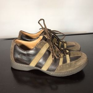 BORN men brown Leather Fashion sneaker
